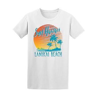 Surf Hawaii Lanikai Beach Graphic Tee - Image by Shutterstock