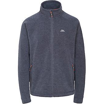 Trespass Mens Instigate Full Zip Knitted Melange Fleece Jacket Coat