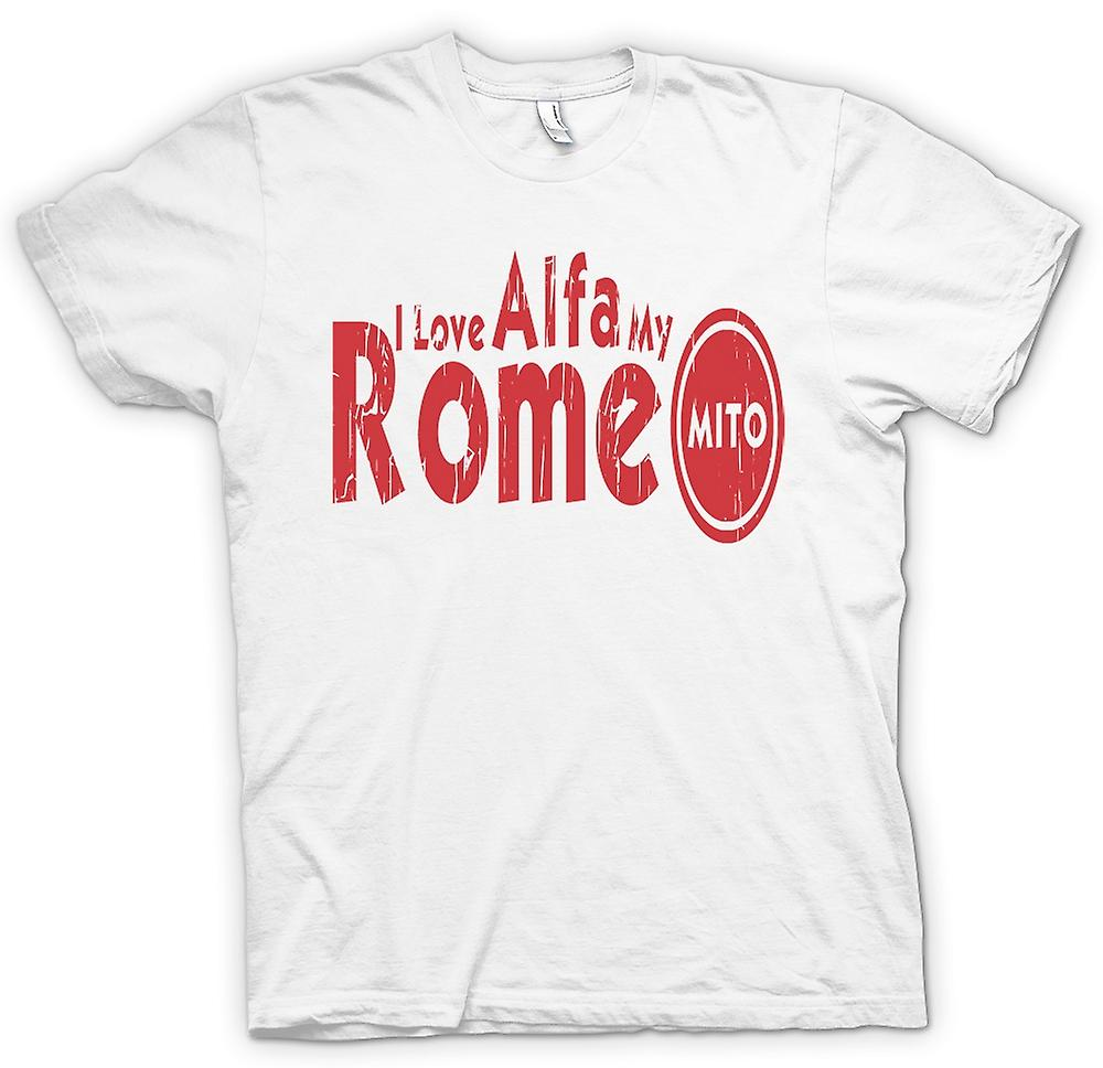 Womens T-shirt - I Love My Alfa Romeo Mito - Car Enthusiast
