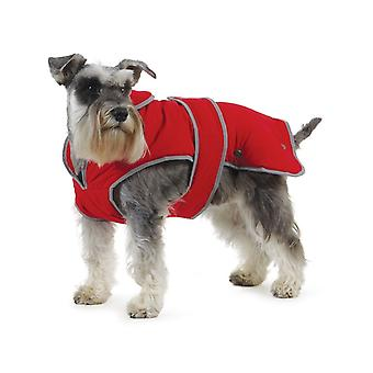 Ancol Stormguard Dog Coat Chest Protector Poppy Red Small