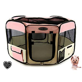 FABRIC FOLDING PET PLAY PEN ヨ LARGE ヨ Pink - L