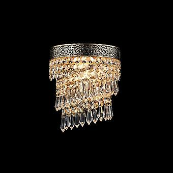 Maytoni Lighting Cascade Diamant Crystal Collection Sconce, Gold