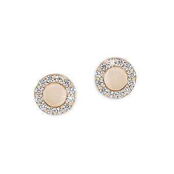 s.Oliver jewel ladies earrings silver Rosé gold cubic zirconia 2012585