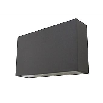 UpDown LED wall light square, dark grey, IP44, 6W, warm white, 10434