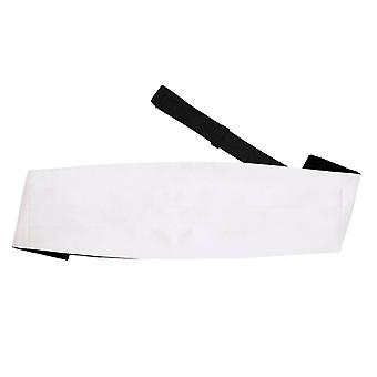 White Plain Satin Cummerbund