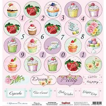 Scrapberry's Afternoon Tea Single-Sided Cardstock 12
