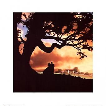 Gone with the Wind - silhouet Poster Poster afdrukken
