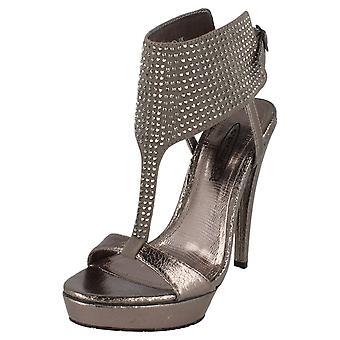 Ladies Spot su piattaforma tacco alto T Bar sandalo con Diamante Trim