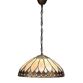 Intérieurs 1900 Brooklyn seul plafond lumineux pendentif en argent foncé Bro