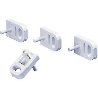 Los pernos de tapa de Rittal 9583.000 pared accesorio soporte poliamida, polietileno aislante enchufe. Color blanco (RAL 7035)
