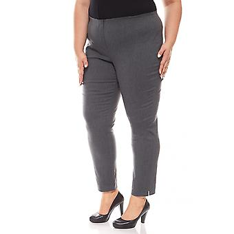 sheego Bengalin stretch plus size short size grey