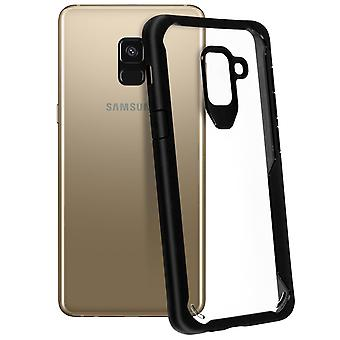 Hybride bescherming Case voor Samsung Galaxy A8, Shock aborbing case + Bumper - zwart