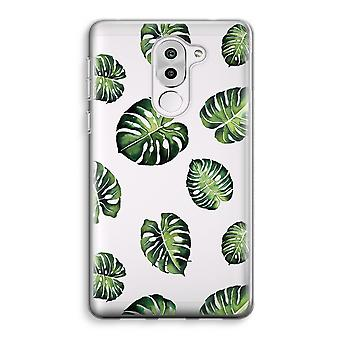 Honor 6X Transparent Case (Soft) - Tropical leaves