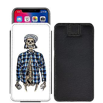 Schädel Custom entworfen gedruckt ziehen Tab Tasche Telefon Fall decken für Asus Zenfone 4 Pro ZS551KL [L] - skull35_web