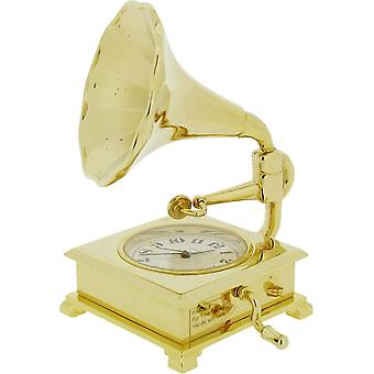 Gift Time Products Gramophone Miniature Clock - Gold
