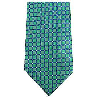 Knightsbridge Neckwear Geometric Tie - Green/Blue