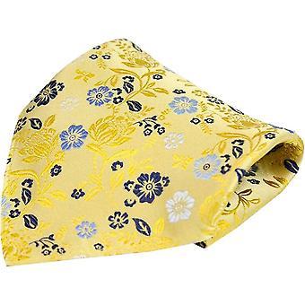 Posh og Dandy Floral luksus silke Pocket Square - lyse guld