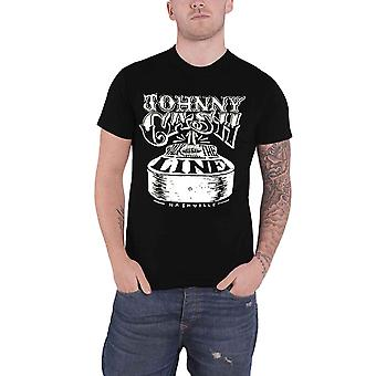 Johnny Cash T Shirt Walk The Line Nashville gitaar Logo nieuwe officiële Mens zwart