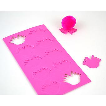 10 Foam Self Adhesive Feet Shapes for Bugs - Cerise Pink | Childrens Craft Foam