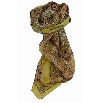 Mulberry Silk Traditional Square Scarf Farrin Primrose by Pashmina & Silk