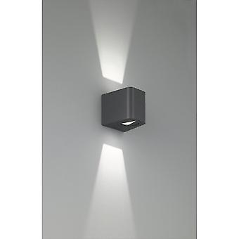 Trio Lighting Bogota Modern Anthracite Aluminium Wall Lamp