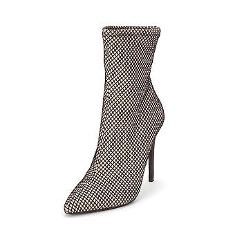 Steve Madden Womens Lovely/Love02s1 Fabric Pointed Toe Ankle Fashion Boots