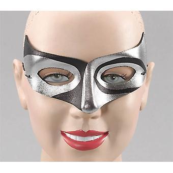 Sølv/Blk Macumba stil øjenmaske.