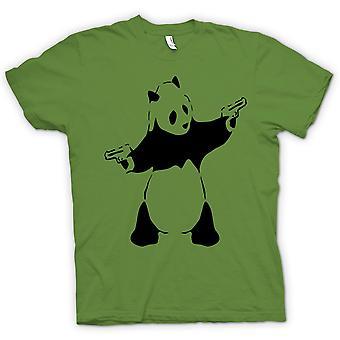 Womens T-shirt - Kids Hoodie - Banksy - Graffiti Wall Art - Panda Pistol