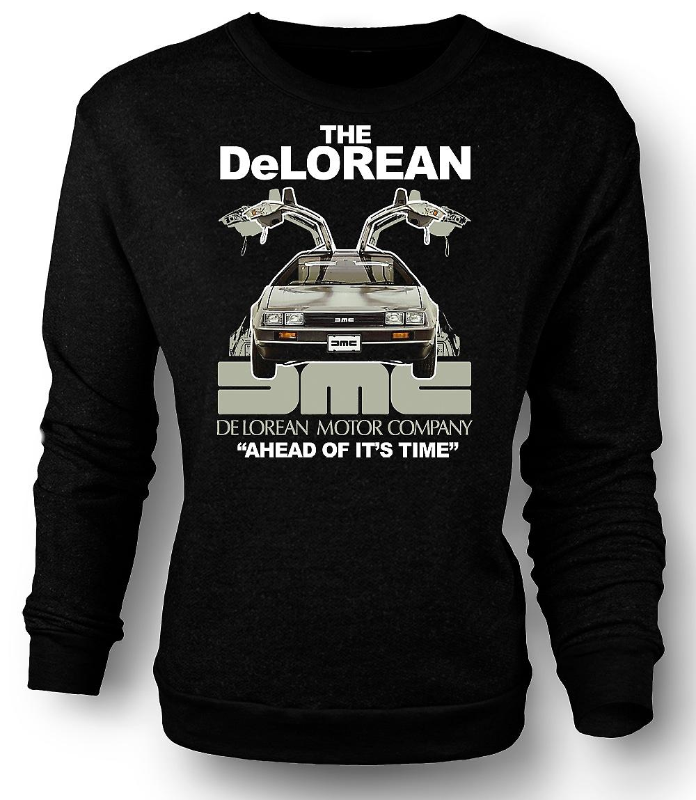 Mens Sweatshirt DeLorean - Ahead Of Its Time