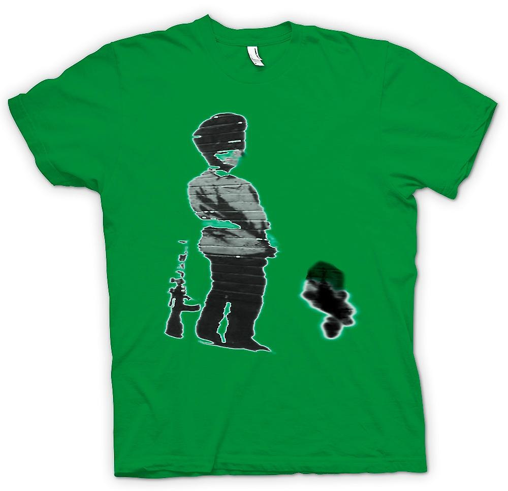 Mens T-shirt - Banksy Graffiti Art - Soldier