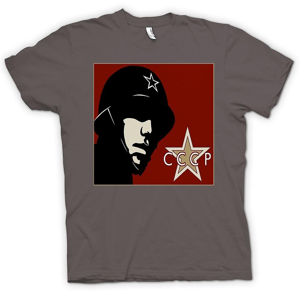 Mens T-shirt - CCCP Rysk - Propagandaaffisch