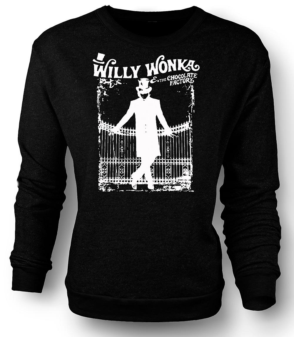 Mens Sweatshirt Willy Wonka et la chocolaterie - BW