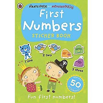Eerste cijfers: Een Pirate Pete en prinses Polly sticker activiteit boek