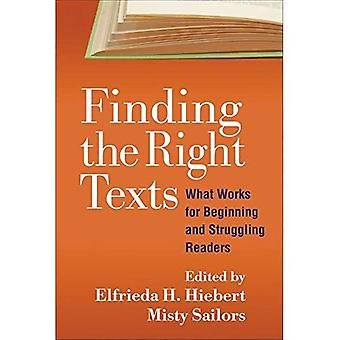 Finding the Right Texts (Solving Problems in the Teaching of Literacy)