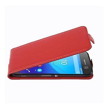 Cadorabo Hülle für Sony Xperia M5 Case Cover - Handyhülle im Flip Design aus strukturiertem Kunstleder - Case Cover Schutzhülle Etui Tasche Book Klapp Style