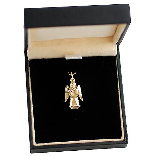 9ct Gold 17x12mm solid Guardian Angel Pendant or Charm