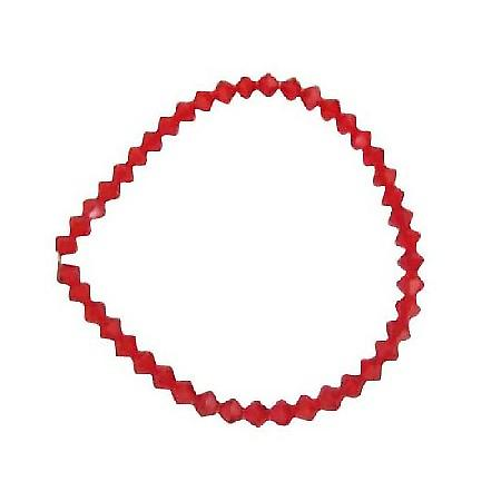 Siam Red Swarovski Crystals Stretchable Bracelet