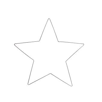 Medium 30cm Wire Christmas Star to Decorate - Adults Crafts