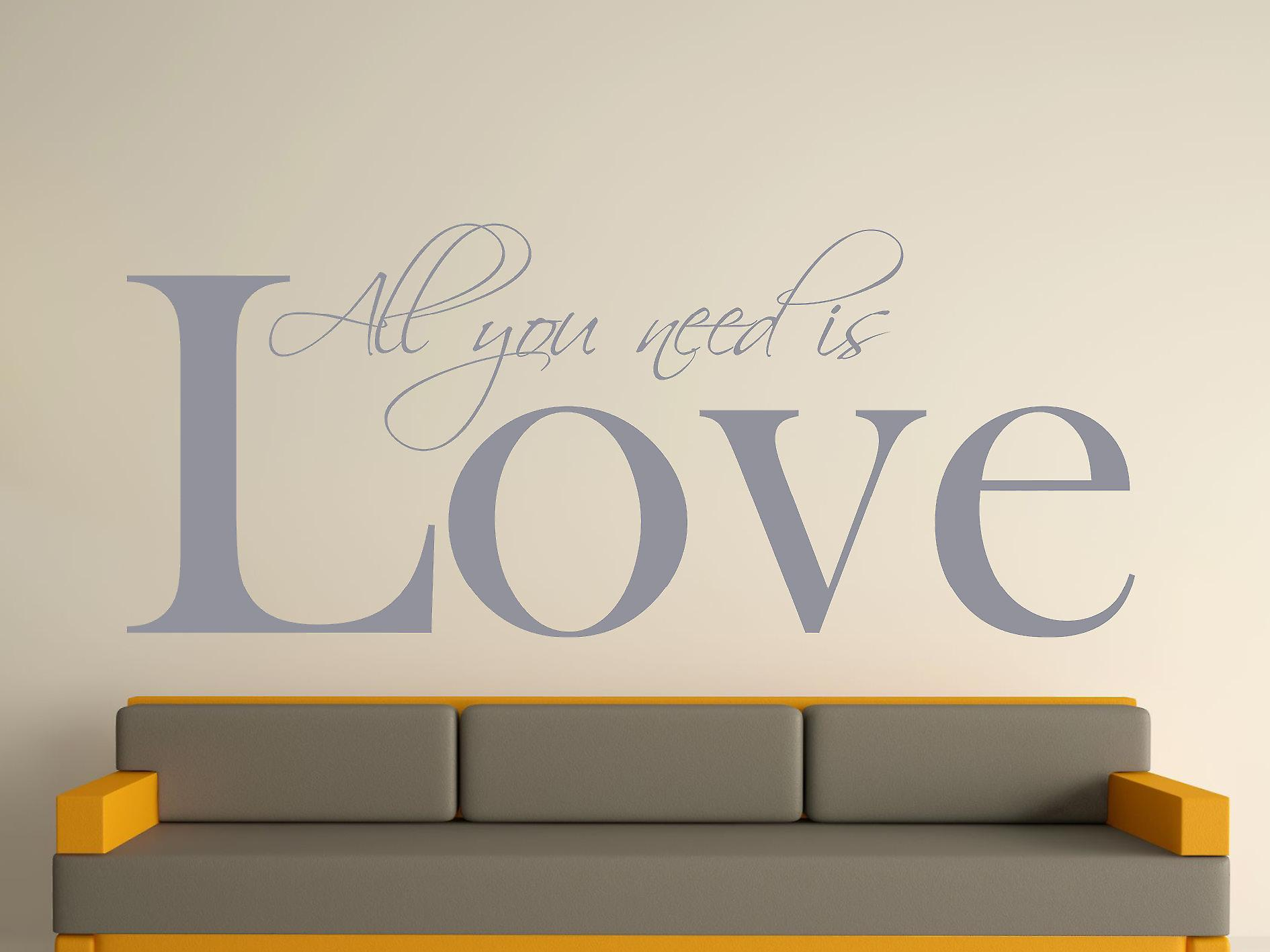 All You Need Wall Art Sticker - Silver