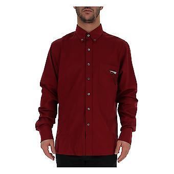 Borgoña algodón camisa de Prada