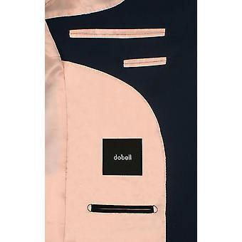 Dobell Mens Marine Fahrleistung 2 Stück Anzug Slim Fit Peak Revers