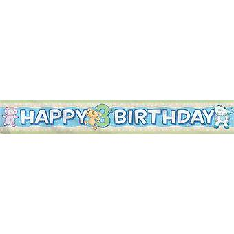 Foil Banner - Babys 3Rd Birthday