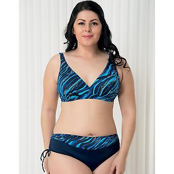 Aqua Perla - Womens -bahia- Blue Wave- Plus Size- Bikini Top