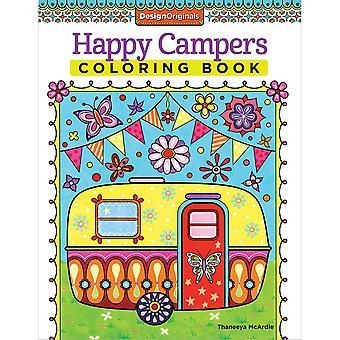 Diseña libros para colorear de los originales felices campistas