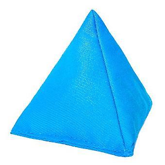 Bolsa de frijol triangular de algodón turquesa para jugar al aire libre