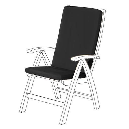 Gardenista® noir résistant à l'eau coussin de siège Highback pour chaise de jardin, Pack de 8