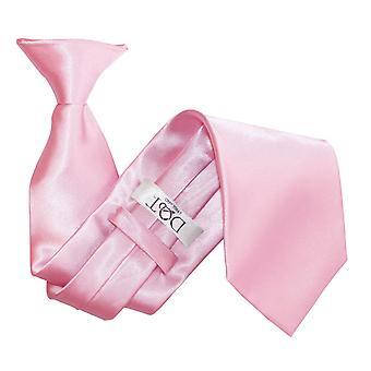 Baby Pink Plain Satin Clip On Tie
