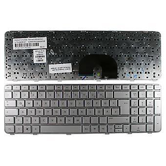 HP Pavilion DV6-6b30ec marco plata plata diseño alemán repuesto teclado del ordenador portátil
