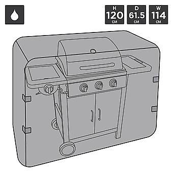 Charles Bentley Universal Waterproof Premium Gas Charcoal BBQ Cover Medium 3-5 Brenner-schwarz