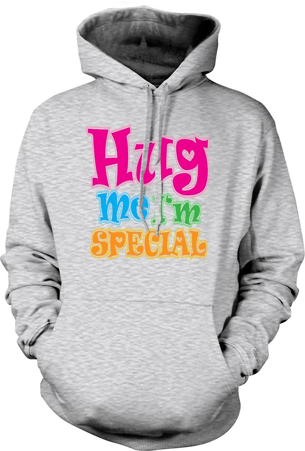 Mens Hoodie - krama mig jag är speciell - rolig